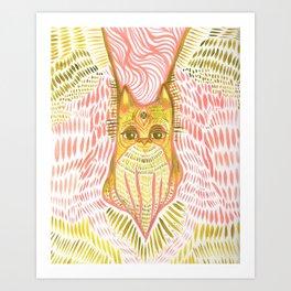 squidcat vision Art Print