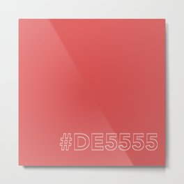 #DE5555 [hashtag color] Metal Print