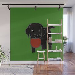 Black Lab Puppy Wall Mural