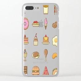 Yummy-Food Clear iPhone Case
