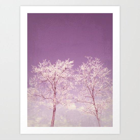Winter's longing ~ Abstract  Art Print
