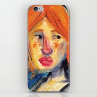 redhead iPhone & iPod Skins featuring Redhead by Danilo Gonçalves