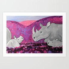 Field of Purple Art Print