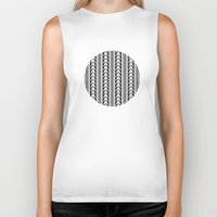 moroccan Biker Tanks featuring Moroccan Stripes by Caitlin Workman