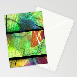 Painted Panes Abstract Stationery Cards