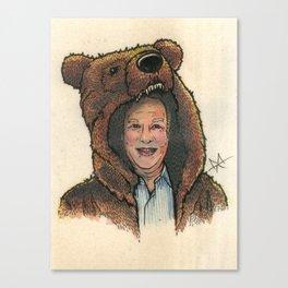 Bear Suit Marc Canvas Print