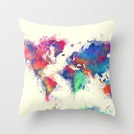 world map 105 #worldmap #map Throw Pillow