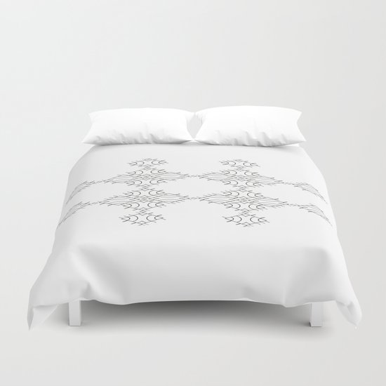 electronic shapes Duvet Cover