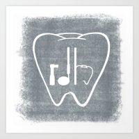 RDH Tooth Art Print