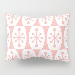 Mid Century Modern Atomic Fusion Pattern Peach Pillow Sham