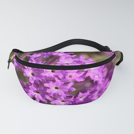 Sparkle Purple Petals by Reay of Light Photography Fanny Pack