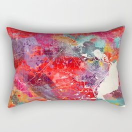 Beaumont map Texas painting square 2 Rectangular Pillow