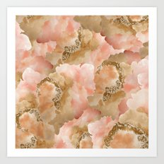 Gold in the clouds Art Print