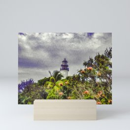 Key West Lighthouse - Painterly Photo Manipulation Mini Art Print