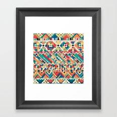 an aztec pattern.  Framed Art Print