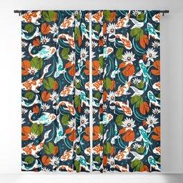 Koi Pond - Orange Blackout Curtain