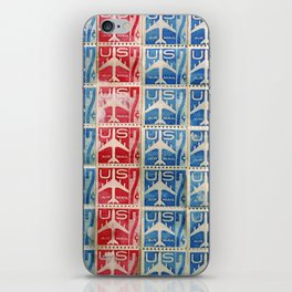 Vintage Postage Stamp Collection - 04 (airmail) iPhone Skin