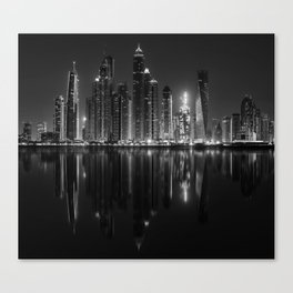 City of glass and steel Canvas Print
