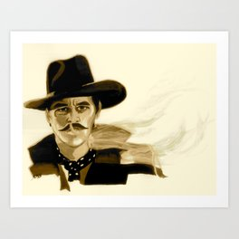 "Tombstone (Film, 1993) Doc Holliday ""I'm Your Huckleberry"" * SEPIA * Art Print"