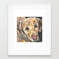 hobbes Framed Art Prints featuring Hobbes  by Maritza Hernandez