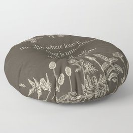 For where love is... Claire Fraser in Sepia Floor Pillow
