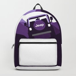 Jeep 'Driving' Purple Mountain Backpack