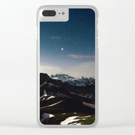 Night Nature (Color) Clear iPhone Case