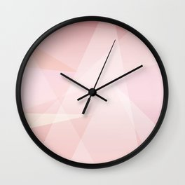 Abstract polygonal landscape Wall Clock