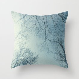 The Trees - Hazy n' Blue Throw Pillow