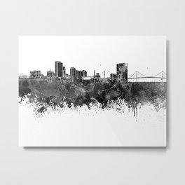 Toledo skyline in black watercolor Metal Print