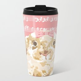 Bunny Composition (beige/pink) Metal Travel Mug