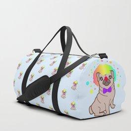 Pug dog in a clown costume pattern Duffle Bag