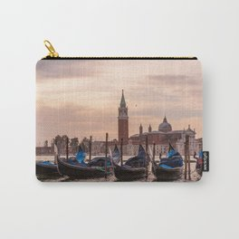 Venice Gondolas at Sunset, Italy Travel Photography, Venice Wall Art, Venecia Foto Carry-All Pouch