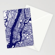 New York City Map 02 Stationery Cards