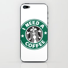 I need a coffee! iPhone & iPod Skin