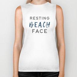Resting Beach Face Biker Tank