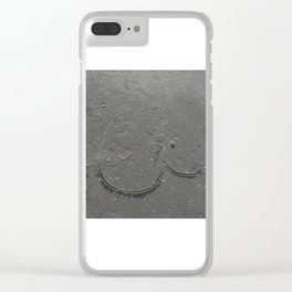 Even Te Mighty Ocean Can Not Was Away love Clear iPhone Case