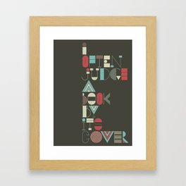 I often judge a book by its cover Framed Art Print