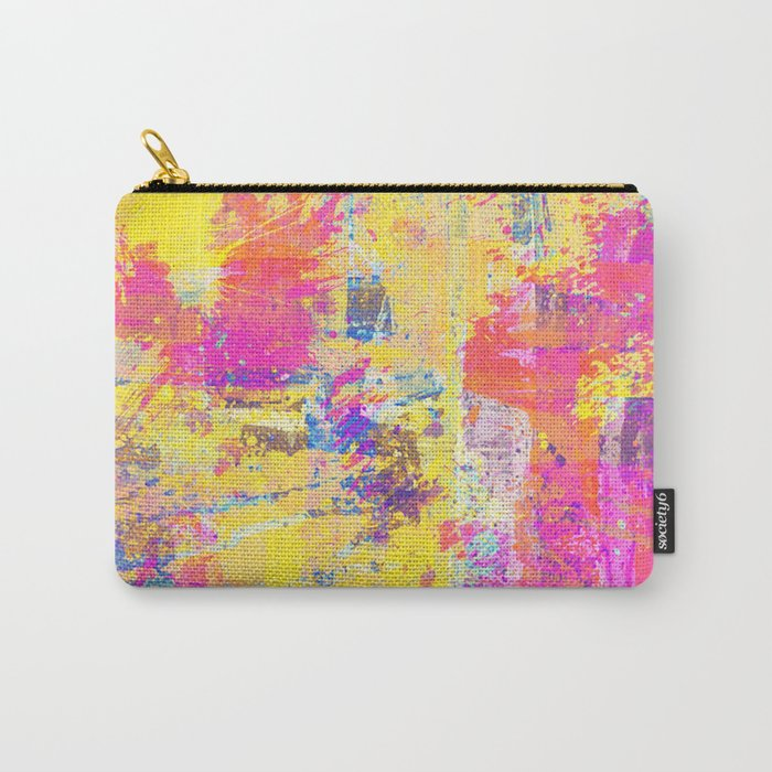 Always Look On The Bright Side - Abstract, textured painting Carry-All Pouch