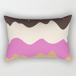 Neapolitan Ice Cream Rectangular Pillow