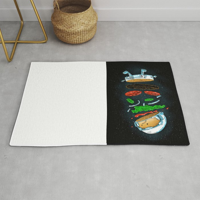 The Astronaut Burger Rug