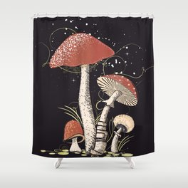 Different mushrooms Shower Curtain