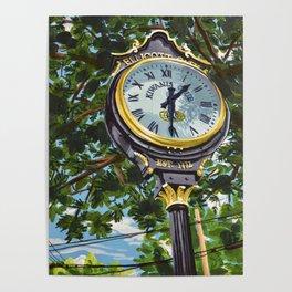 Ellicott City Flood Relief- Clock Poster