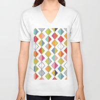 diamonds V-neck T-shirts featuring Diamonds by Amy Schimler-Safford