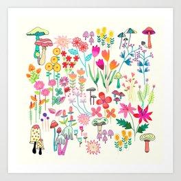 The Odd Floral Garden I Art Print