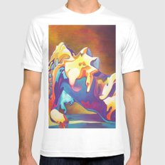The United Colours of Orgasm Thermal Nude White MEDIUM Mens Fitted Tee