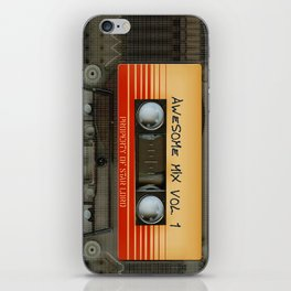 awesome transparent mix cassette tape vol 1 iPhone Skin