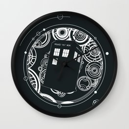 Negative Time and Space - Doctor Who inspired Wall Clock