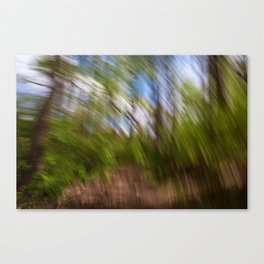 Abstract Forest Streaks Canvas Print