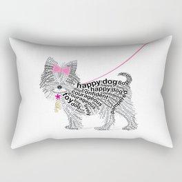 Typographic Yorkshire Terrier - Pink   #YorkshireTerrier #buyart Rectangular Pillow